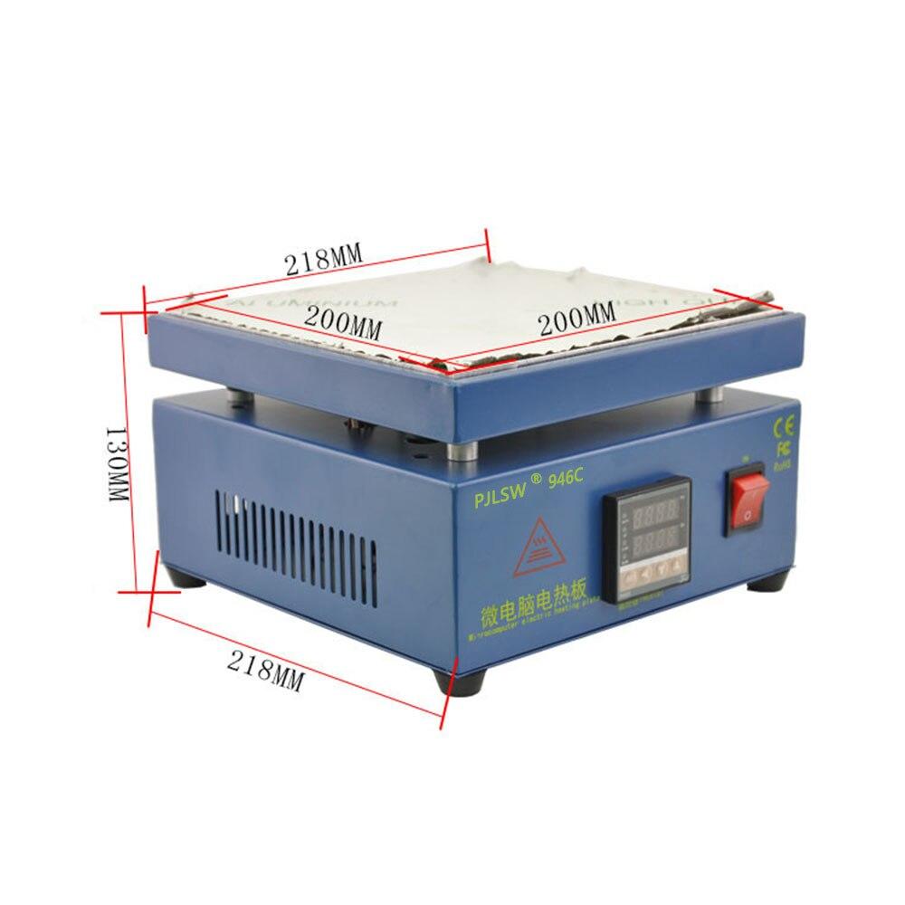 PJLSW  110/220 V 800 W 946C 200x200mm Placa De Calor Electrónico Preestación De Precalentamiento Para BGA PCB SMD Calefacción Lá