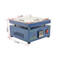 UYUE 110/220 V 800 ワット 946C 200 × 200 ミリメートル電子ホットプレート予熱予熱ステーション BGA PCB SMD 加熱 Led ランプはんだ -