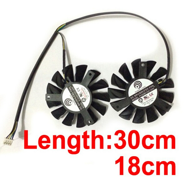 Free Shipping 2 Pieces/lot PLD08010S12HH Computer Dual Fan Cooler For Graphics Video Card MSI R7950 HD7950 Cooling 2pcs lot computer radiator cooler fans rx470 video card cooling fan for msi rx570 rx 470 gaming 8g gpu graphics card cooling
