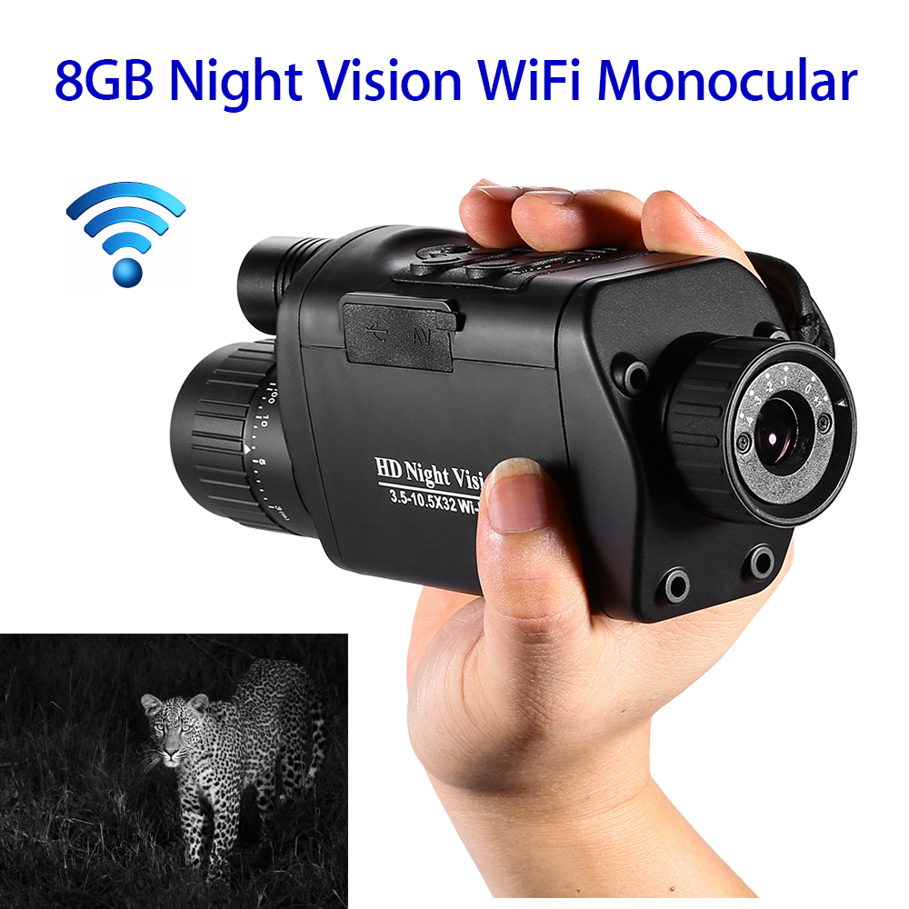 NV-500 WiFi Digital Night Vision Monoculars Outdoor Telescope Binoculars Hunting 3.5-10.5 x 32 HD Infrared Monocular