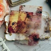 Teste Padrão do vintage Papel Velino Adesivos Para Scrapbooking Journaling Planejador Cartão Diy Fazendo Feliz Projeto de Artesanato