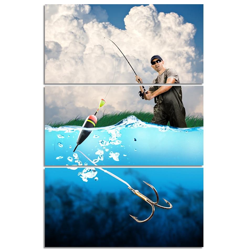 Fishing Man By Sea Canvas Wall Art 1