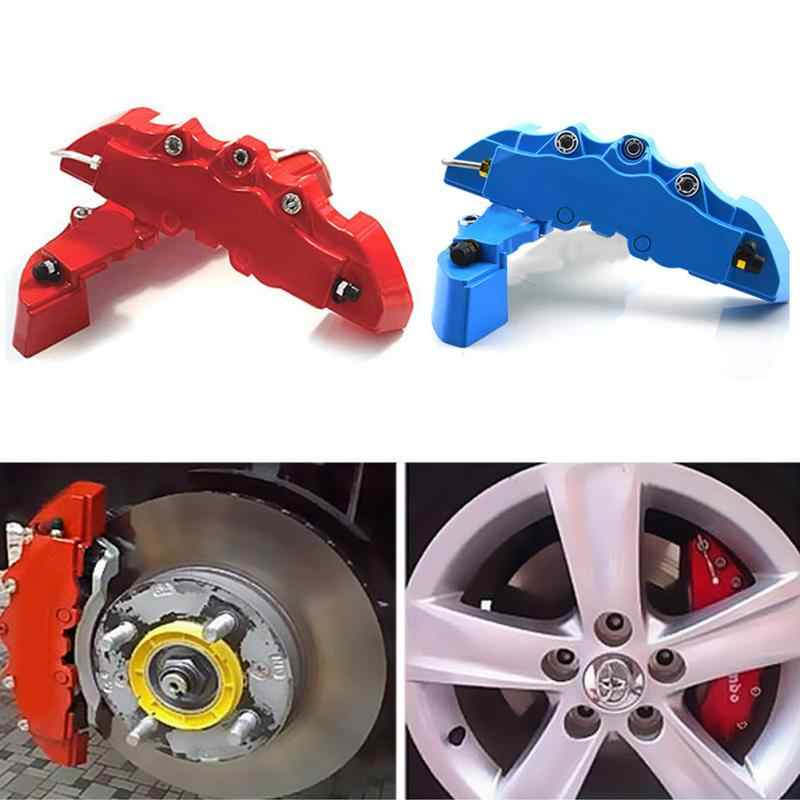 "Disc Brake Caliper Covers 3D Kit Front Rear Car Truck Fit 14/""-17 /"" Wheels Yellow"
