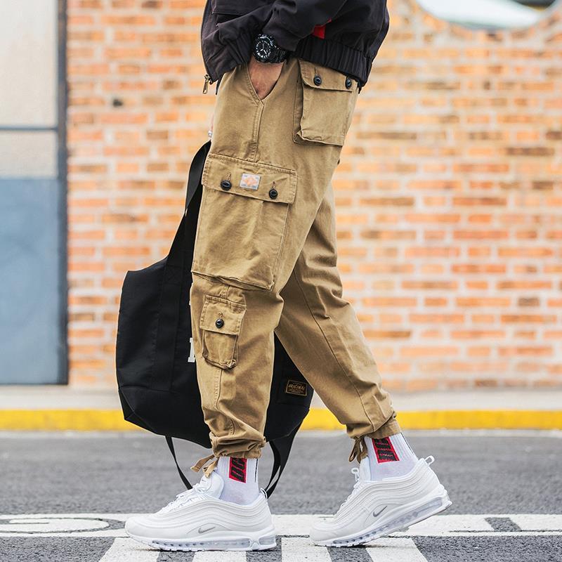 More Than 2019 Men Overalls Pocket Four Seasons Joker Leisure Beam Foot Trousers