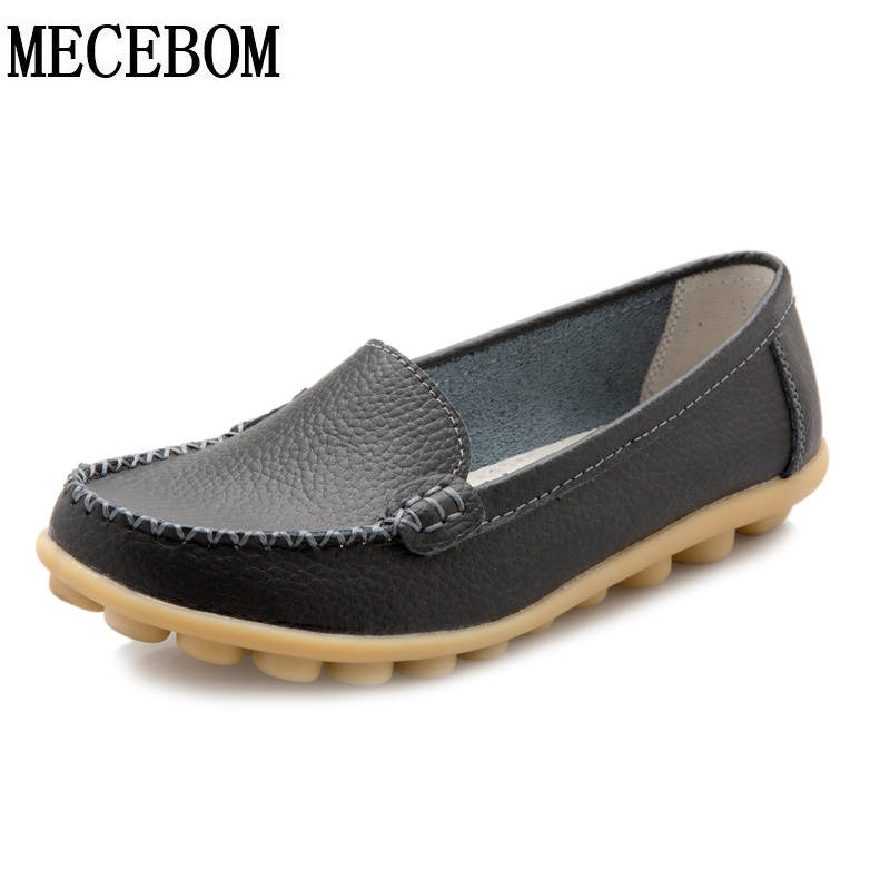 2017 New Leather Women Flats Moccasins Loafers Wild Driving Women Casual Shoes Leisure Concise Flat In 7 Colors Footwear 918W