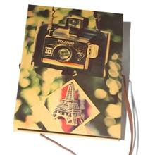 DIY Ручная работа Твердый переплет крафт-бумага складной дешевый альбом черная карта скот карта паста аккордеон креативный фотоальбом
