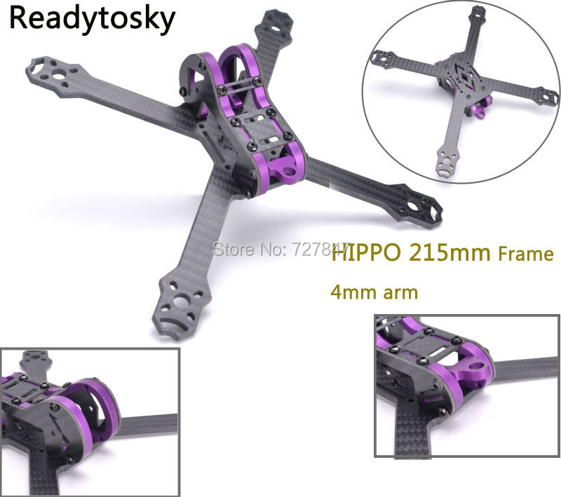 New HIPPO 5 Inch 215mm 215 Pure Carbon Fiber Frame kit with 4mm arm and aluminum parts for FPV RC cross racing drone quadcopter diy carbon fiber frame arm with motor protection mount for qav250 zmr250 fpv mini cross racing quadcopter drone