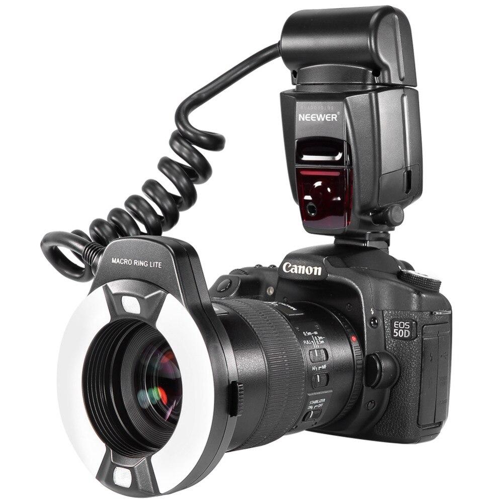 Neewer Macro TTL Flash Annulaire Lumière Lampe D'assistance AF pour Canon E-TTL/TTL EOS5D MarkII/EOS6D/7D/70D/60D/60Da/700D/650D/600D/400D/350D