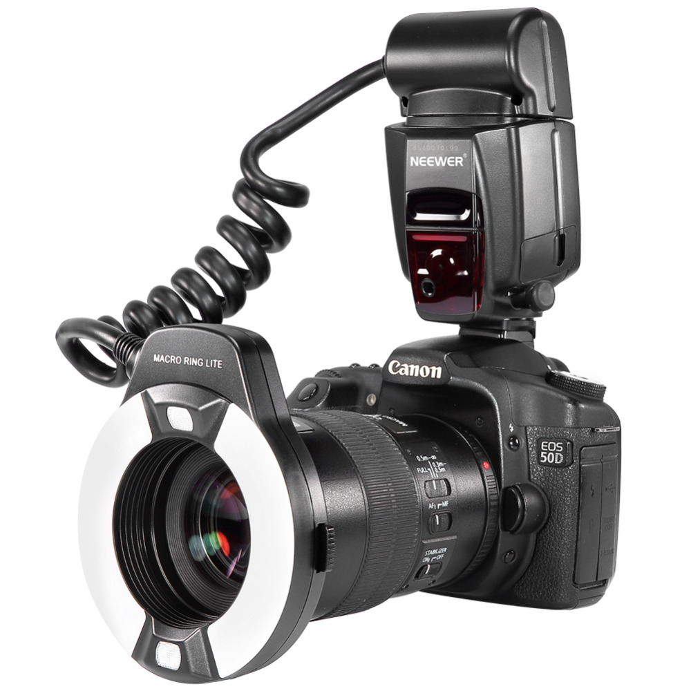 все цены на Neewer Macro TTL Ring Flash Light AF Assist Lamp for Canon E-TTL/TTL EOS5D MarkII/EOS6D/7D/70D/60D/60Da/700D/650D/600D/400D/350D онлайн