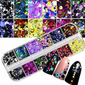 Colorful Nail Art Tips Stickers 3D Laser Makeup Manicure DIY Decals Decoration 3d nail art printer fairyglo top coat diamond(China)