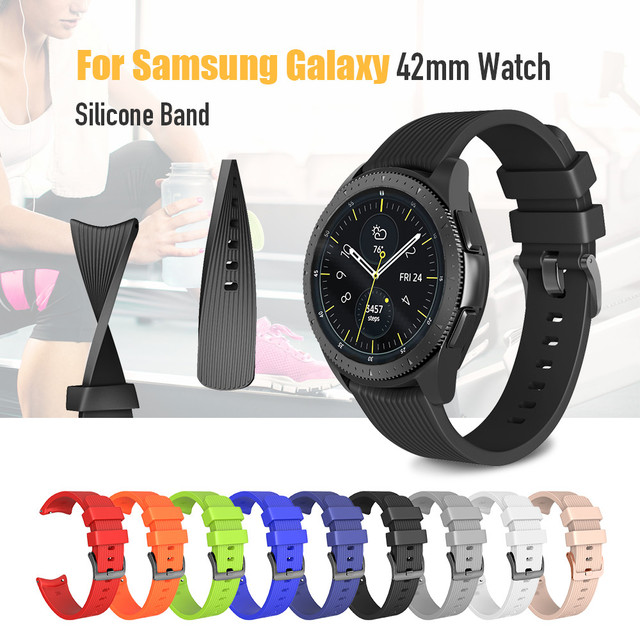 20mm Width Silicone Strap for Samsung Galaxy Watch 42mm Band for Samsung Gear Sp