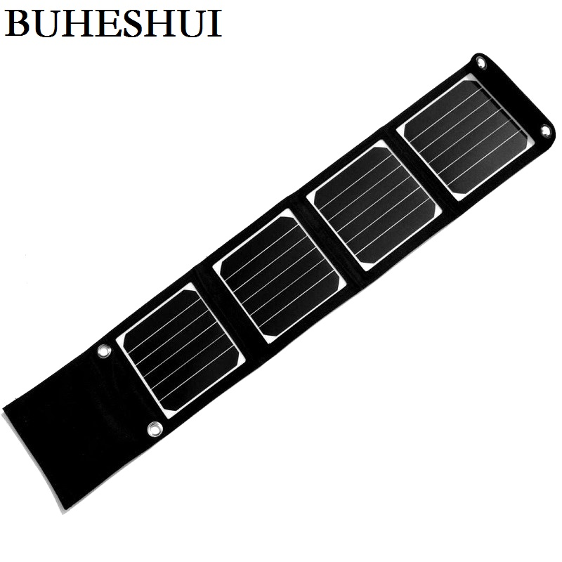 BUHESHUI 14W Sunpower Solar Panel Charger Solar Charger For Mobile Phones iphone /Power Bank Battery Charger Dual USB Output-in Solar Cells from Consumer Electronics    1