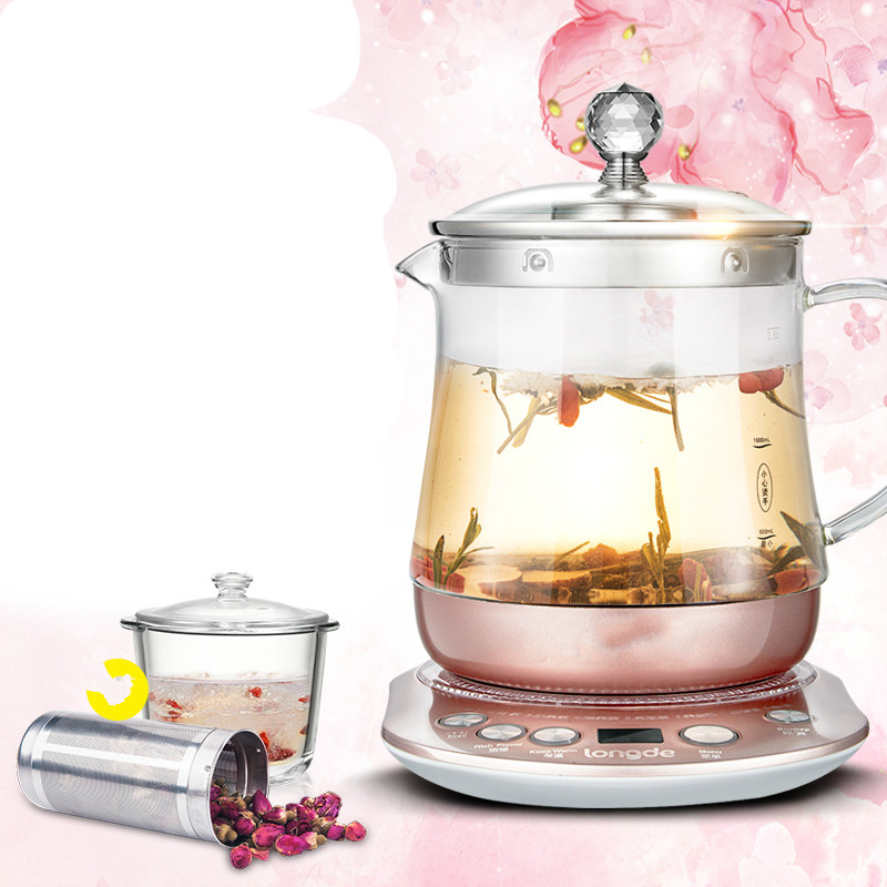 Extraction flower tea raising pot automatic thickened glass multi-function boiling pot/electric kettle Safety Auto-Off Function bear 220v electric kettle multifunctional health preserving pot decocting of tea glass thickened kettles