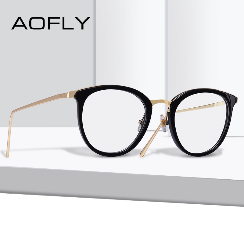 AOFLY BRAND DESIGN Fashion Newest Style Frame Plain Eyeglass Frame Optics Clear Reading Glasses Trendy Goggles For Women AF9210