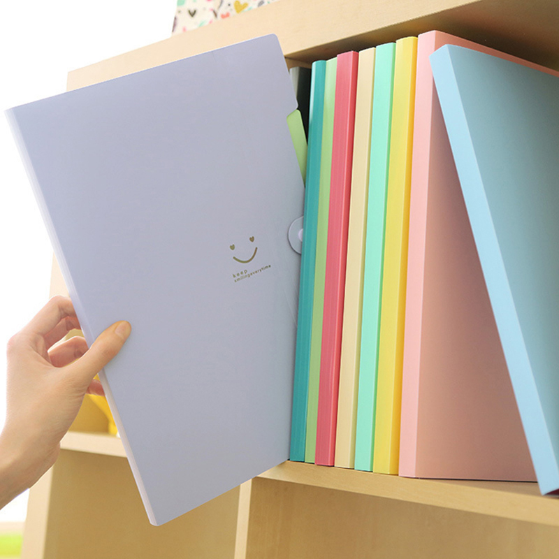 5 Pcs/set Waterproof Book A4 Paper File Folder Bag Accordion Style Design Document Rectangle Office Home School