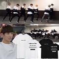 KPOP BTS Bangtan Boys JUNGKOOK Album Shirts K-POP 2016 Casual Cotton Tshirt T Shirt Short Sleeve Tops T-shirt DX343