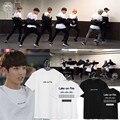 KPOP BTS Bangtan Meninos JUNGKOOK Álbum Camisas K-POP 2016 Camiseta de Algodão Casuais T Shirt Tops de Manga Curta T-shirt DX343