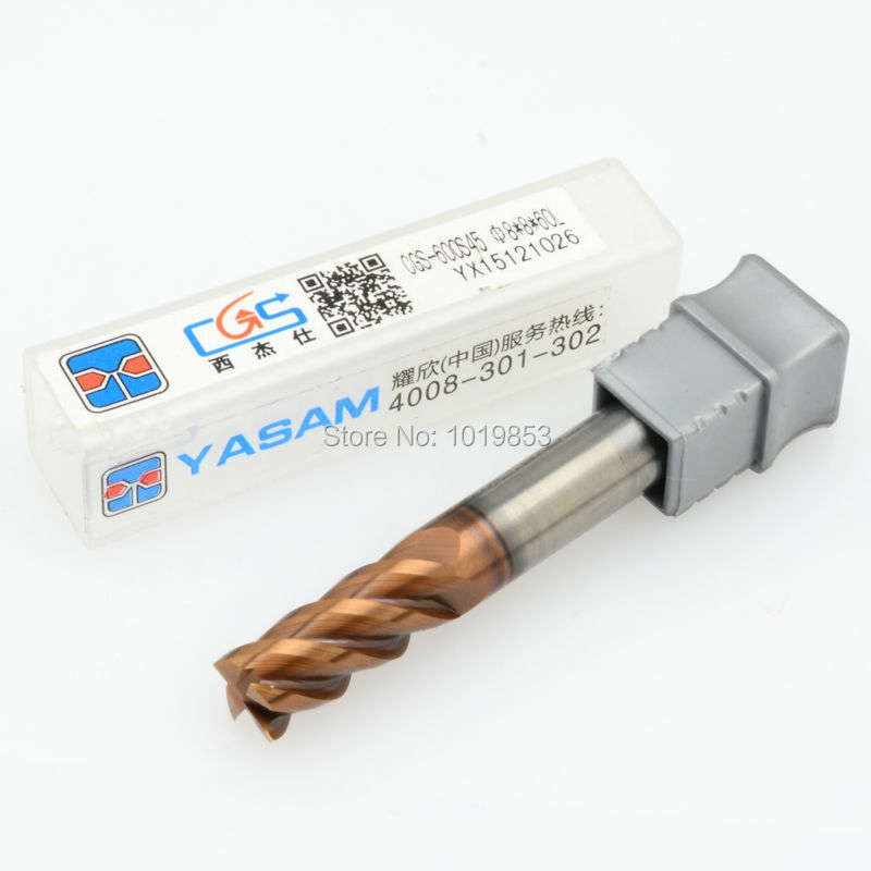 CGS-600S 8*8*60L HRC68 SOLID tungsten carbide end mill For high speed CNC machine цена и фото