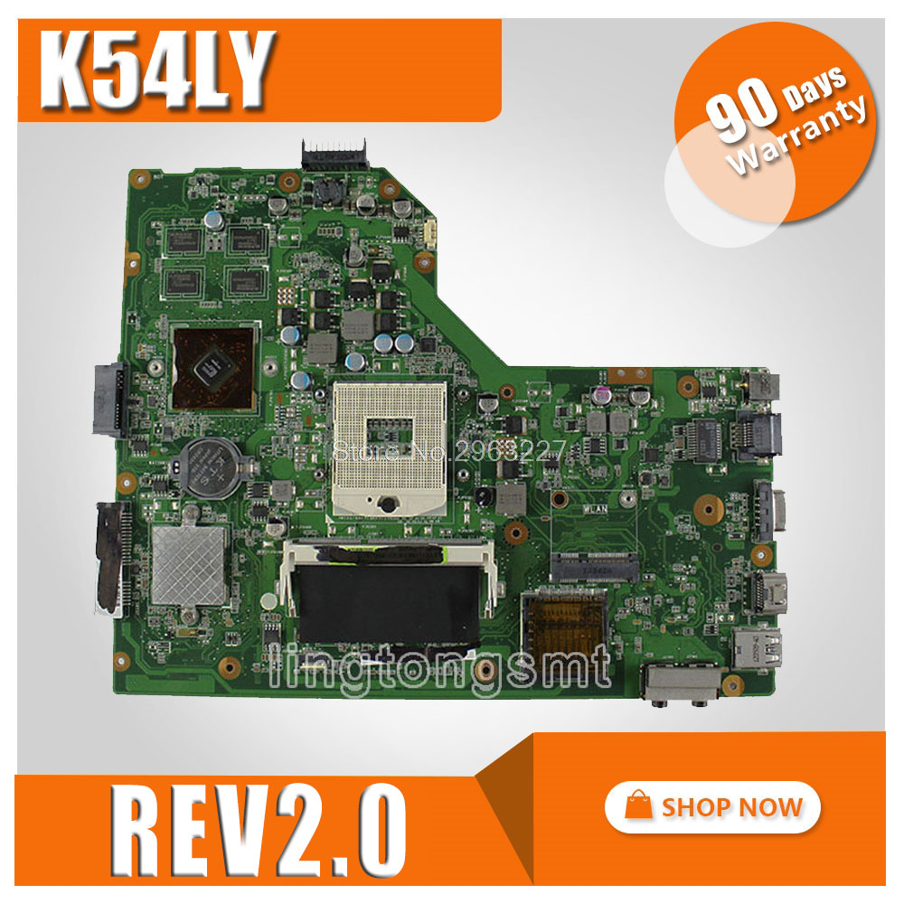 K54LY Motherboard REV:2.0/2.1 1GB For ASUS X54H K54HR X54H K54LY Motherboard K54LY Mainboard K54LY Motherboard Test 100% OK