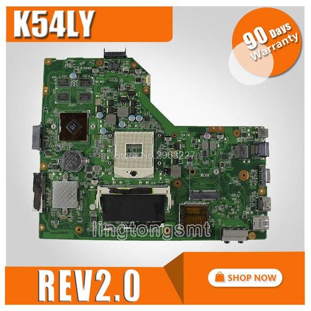 K54LY motherboard REV:2.0/2.1 1GB for ASUS X54H K54HR X54H K54LY motherboard K54LY mainboard K54LY motherboard test 100% OK