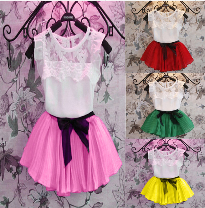 New 2015 Summer Girl Dress Kids Princess Party Dresses For Girls Performance Clothes Children clothing for 3-9 yrs