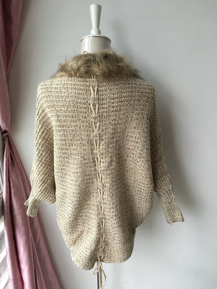 lady spring autumn sweater with fur (8)