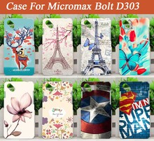 Stand 8 Stylish soft TPU Case For Micromax Bolt D303 d 303 Fashion Case Eiffel Tower Design FOR Micromax d303 tpu Case Cover Bag