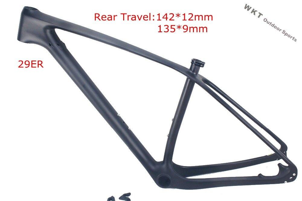 2016 new mtb frame 29er T800 full carbon frame 142x12 thru axle MTB ...