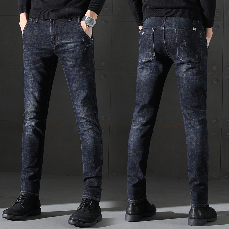 Autumn and Winter New Arrival Men's Slim Pants Korean Version Fashion Stretch Pants Pencil   Jeans