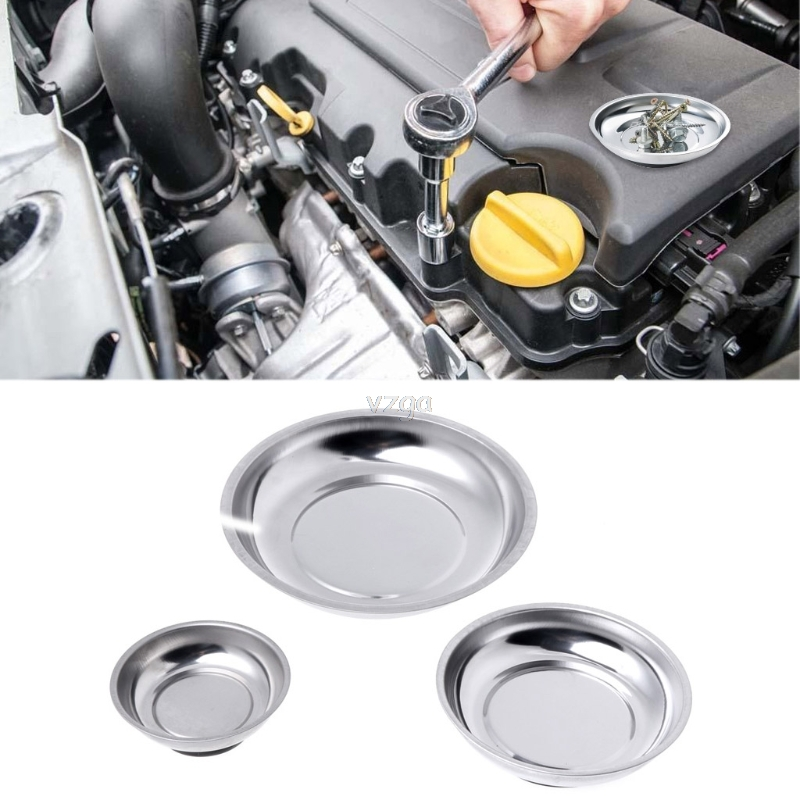 Magnetic Stainless Steel Parts Bowl Tray Dish Machine Repair Storage Tool 3 Inch/4 Inch/6 Inch D11 Dropship