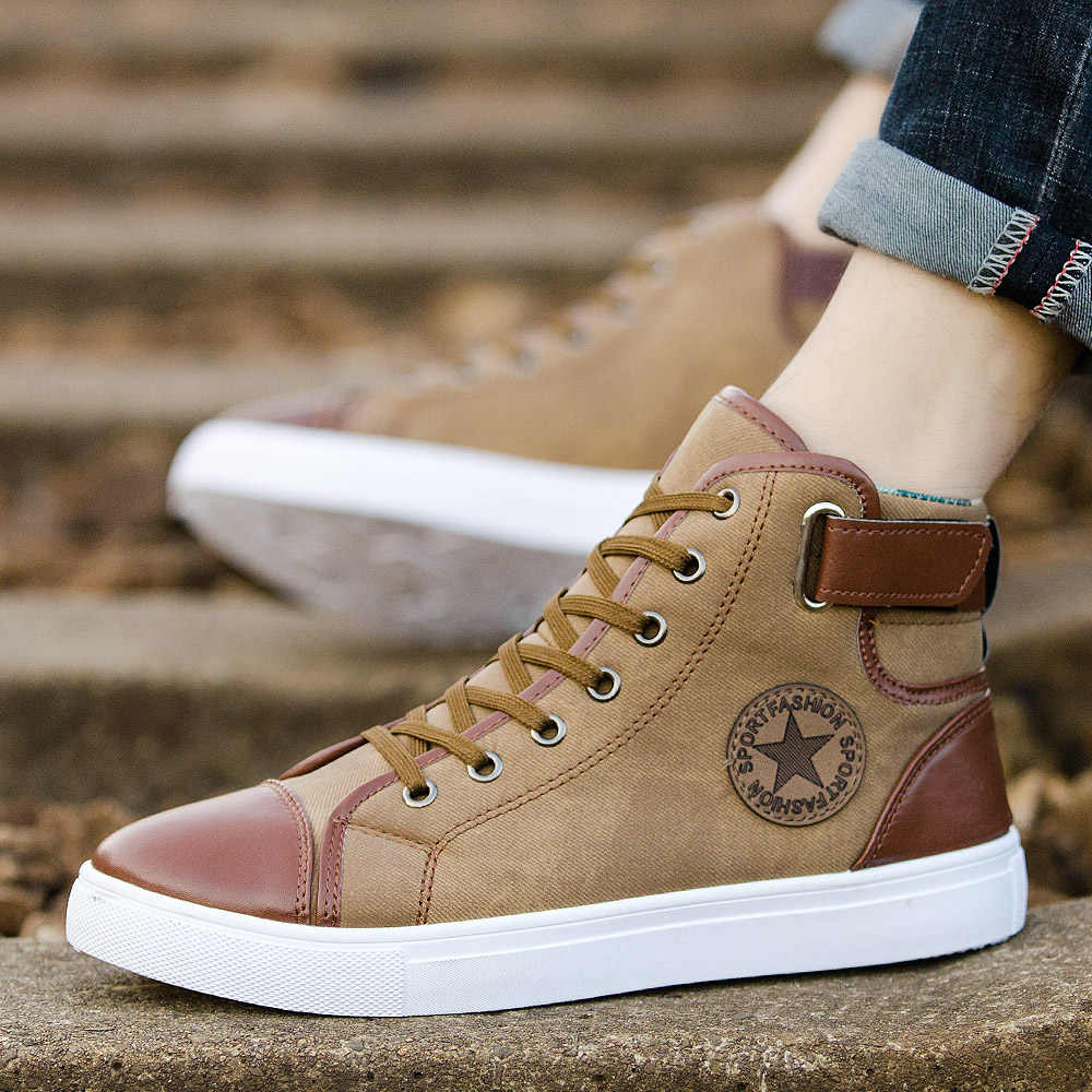 f7f3f2c0c ... GOXPACER 2018 Men Shoes Brief Casual Shoes Lace-up Flat Heel All Match  Shoes Fashion ...