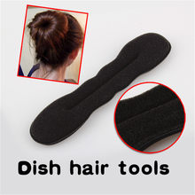 Soft Sponge Hair Roller Styling Twister Tool 17cm Black Bun Maker Hair Twist Wand Curler hair style Styling Magic Sponge Band(China)