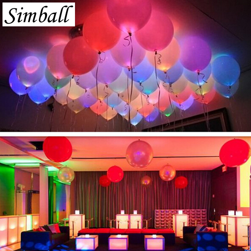 15pcslot 12 Inch Lights Led Balloons Latex Helium Balloon