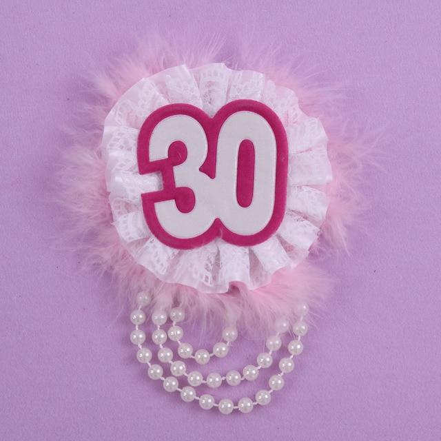 30 D Anniversaire Femme Badge 50 Off Pour 3 Pcs Doux Cadeau Pour