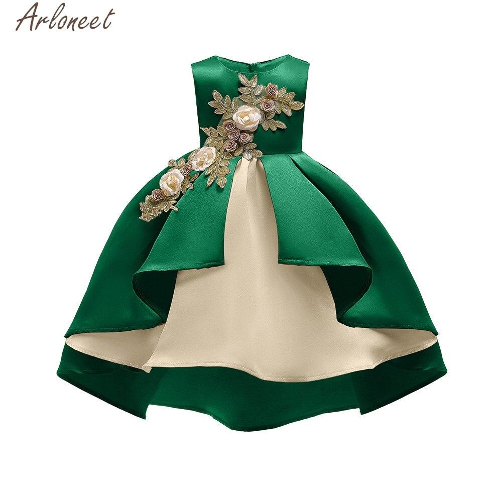 1baf5114706 ARLONEET цветочный для маленьких девочек принцессы подружки невесты платье  День рождения Свадебные Летние DressVestido De Festa