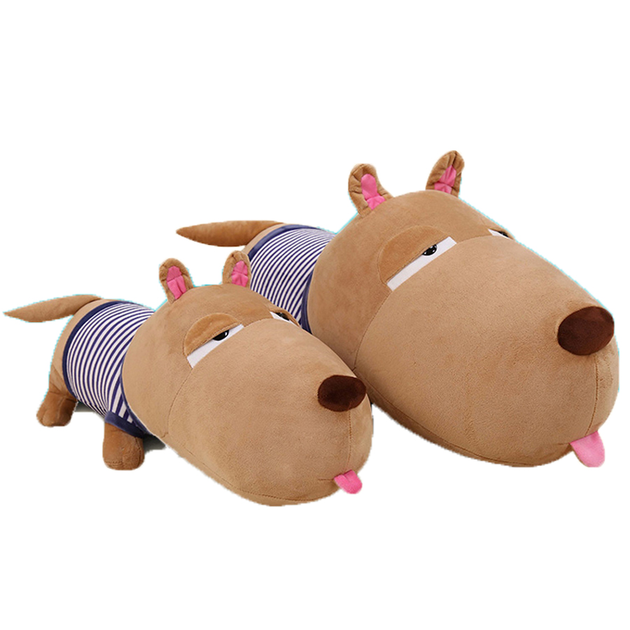Cute Cartoon Brown Dog Plush Toys Stuffed Animals Pillow Juguetes Perro Big Soft Toy Almofadas Popular Toys For Girls 50G0485