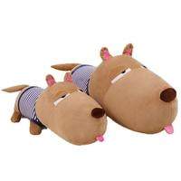 Cute Cartoon Brown Dog Plush Toys Stuffed Animals Pillow Juguetes Perro Big Soft Toy Almofadas Popular Toys For Girls 50G0485