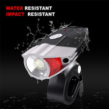 Waterproof Cycling Rechargeable Bike Bicycle Front Light Lamp+ Safe Outdoor Sports Bike Bicycle Accessories Top Quality Jane 12