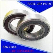 1 Pair AXK 7001 7001C 2RZ P4 DT 12x28x8 12x28x16 Sealed Angular Contact Bearings Speed Spindle Bearings CNC ABEC-7