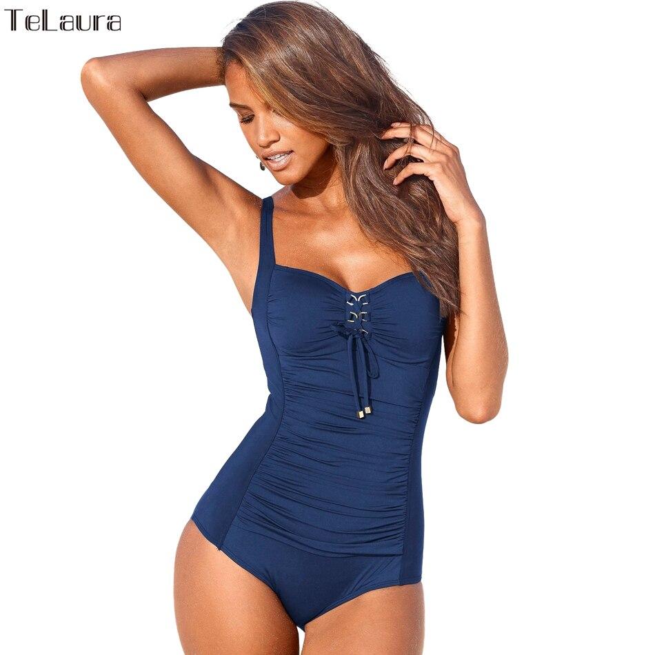 Badeanzug Plus Size Bademode Frauen 2017 Drücken Badeanzug Vintage Monokini Bodysuit Beach Wear High Cut Schwimmen anzug