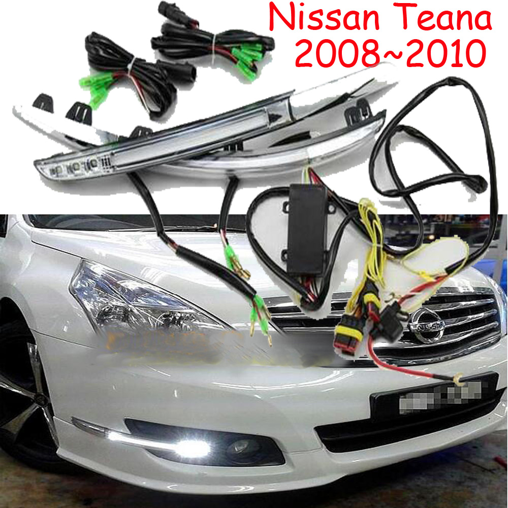 Car-styling,Teana daytime light,2008~2010/2010~2012/2013~2016,chrome,LED,Free ship!2pcs,Teana fog light, Teana headlight teana fog light 2pcs set led sylphy daytime light free ship livina fog light