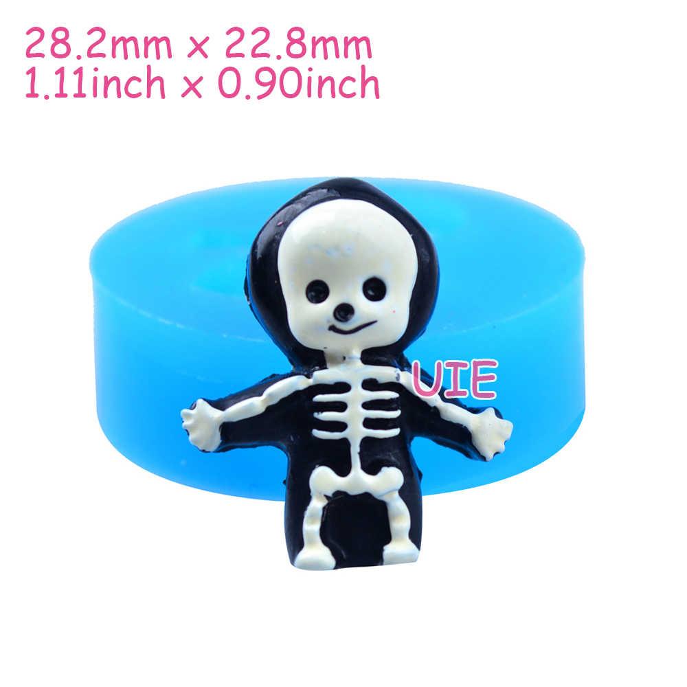 PYL120U 28.2 مللي متر الطفل الجمجمة قالب من السيليكون-فندان ، الحلوى ، تزيين الكعكة ، الشوكولاته ، الراتنج ، فيمو كلاي ، بسكويت البسكويت ، الجليد
