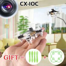 100% оригинал Cheerson Quadcopter CX-10C CX10C мини беспилотный обновленная версия с 0,3-мп HD камера 2.4 г 4CH 6-Axis вертолет игрушка