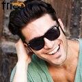 Trioo negro gafas de sol polarizadas hombres gafas con estuche original de la marca de gafas de sol polaroid de los hombres de conducción uv400 shades hombres new