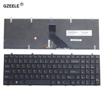 GZEELE angielska klawiatura do laptopa do CLEVO W370ET W350ET W370SK W350ST SK W355ST W370ST z podświetleniem