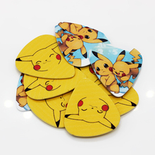 10pcs/Lot 0.71mm thickness guitar strap guitar parts Lovely Pikachu yellow mixed pattern