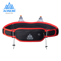 AONIJIE Men Women Running Waist Pack Hydration Belt with 2 Water Bottles Hip Pouch Mobile Phone Pocket Case for Outdoor Sports
