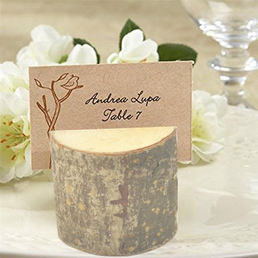 24pcs Wooden Wedding Party Christmas Reception Place Card Holder Stand Table  Number Name Menu Picture Photo Clip Card Holder In Party Favors From Home  ...