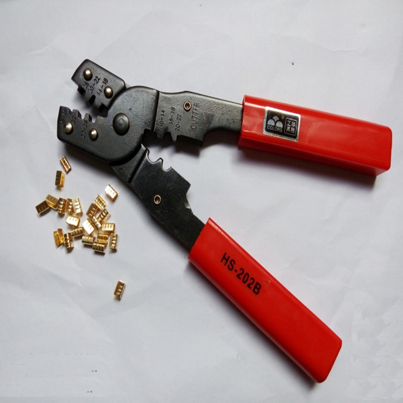 Mini Multifunctional HS-202B Cold Press Clamp Wrenches Telephone Plug Crimping Pliers