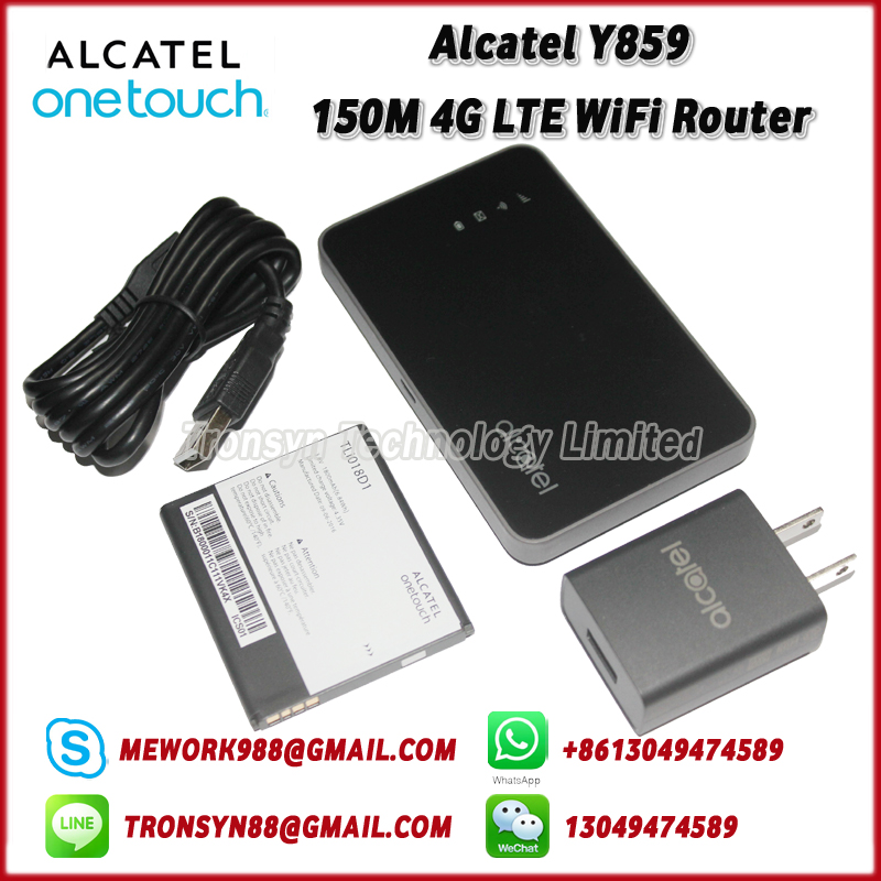 New Original Unlock Alcatel Y859 150Mbps Portable 4G LTE WiFi Sim Card Router Support LTE FDD B1/2/4/5/7/17/28 зимний конверт leader kids прогулочный сер бегемот